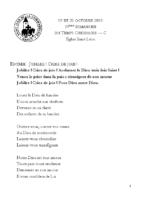Chants Saint-Léon20 octobre 2019