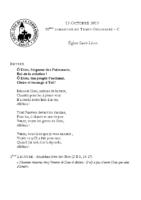 Chants Saint-Léon13 octobre 2019