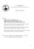 Chants Saint-Léon10 novembre 2019