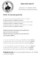 Chants Saint-Léon17 novembre 2019