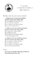 Chants Saint-Léon1er mars 2020