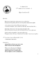 Chants Saint-Léon15 mars 2020