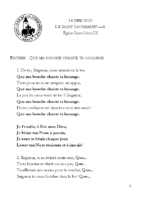 Chants Saint-Léon14 juin 2020