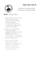 Chants Saint-Léon27 septembre 2020