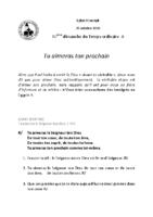 Chants Saint-Joseph25 octobre 2020