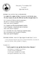 Chants Saint-LéonToussaint 2020