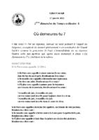Chants Saint-Joseph17 janvier 2021