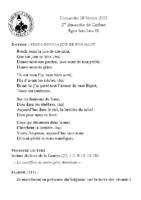 Chants Saint-Léon28 février 2021