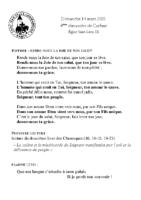Chants Saint-Léon14 mars 2021