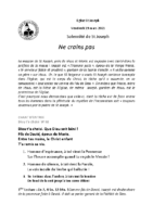Solennité de Saint-Joseph19 mars 2021