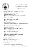 Chants Saint-Léon7 mars 2021
