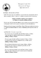 Chants Saint-LéonPâques 2021