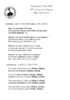 Chants Saint-Léon25 avril 2021