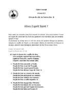 Chants Saint-Joseph23 mai 2021Pentecôte
