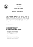 Chants Saint-Joseph6 juin 2021Saint Sacrement