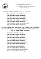 Chants Saint-Léon3 octobre 2021