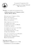 Chants Saint-Léon19 septembre 2021