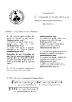 Chants Saint-Léon26 septembre 2021