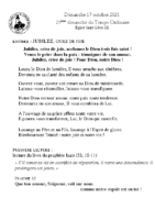 Chants Saint-Léondu 17 octobre 2021